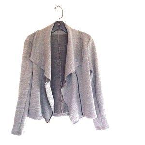 TWR Lightweight Grey Fleece Moto Jacket